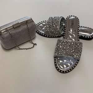 women's wallet and sandals bundle